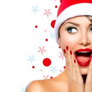 beautiful woman santa hat 180x180 - 4 روش موثر در حذف موهای زائد