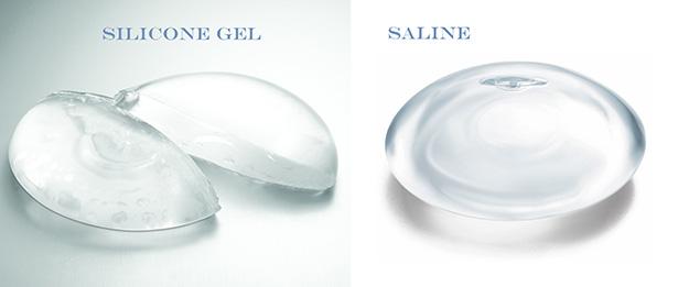 implant saline silicone2 - آنچه باید قبل و بعد از جراحی زیبایی سینه بدانید
